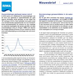 RIWA-Rijn | Nieuwsbrief nr 5