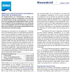RIWA-Rijn | Nieuwsbrief 8