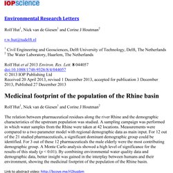 Medicinal footprint of the population of the Rhine basin I
