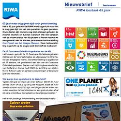RIWA Nieuwsbrief 65 jarig bestaan